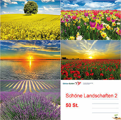 beautiful landscapes 2 Post card Set (50 St - ideal for Post Card