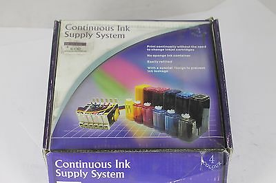 Epson C62 (T40/41 Brand New CISS System Cartridges 100ml Prefilled