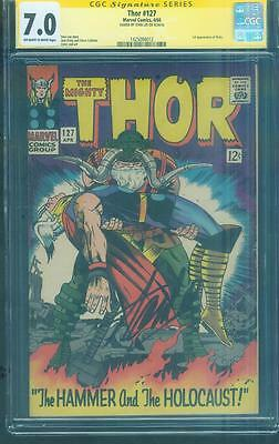 Thor 127 CGC SS 7.0 Stan Lee Jack Kirby Classic Cover 1st Pluto Ranarok Movie