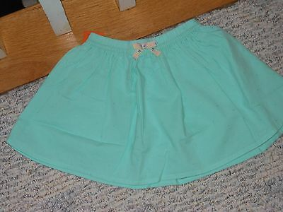 "NWT - Gymboree ""Hello Happy"" mint green elastic waist skirt - 4T girls"