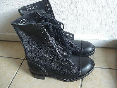 1 Pair new, British Army, Black, Leather, Boots, Size 8  or size 6 no box