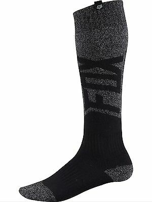 Fox Racing Men's Coolmax Thick Given Socks Black Grey Size M