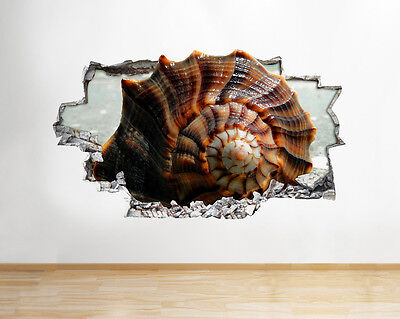 Q388w Shell Seaside Living Hall Smashed Wall Decal 3D Art Stickers Vinyl Room
