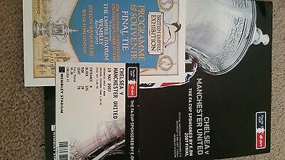 Fa cup final programme and ticket stub 2007