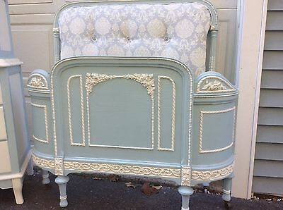 Shabby French cottage sligh chalk painted twin bedroom set