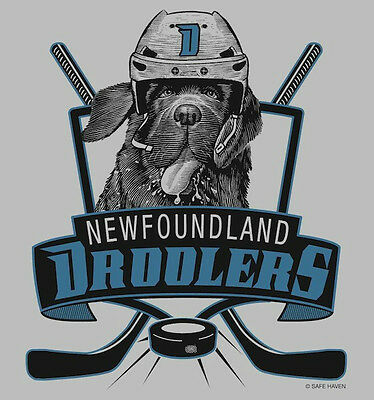 New! DROOLERS NHL Newfoundland Dog Hockey Team XL TEE- Newfie Dog Rescue Project