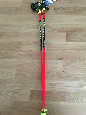 LEKI Ski Poles 115cm World Cup SL-Racing Series -Trigger S straps INCLUDED!!
