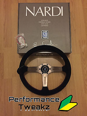 New Nardi Style 350Mm Half Dish Steering Wheel Omp Sparco Momo Rally Drift Uk
