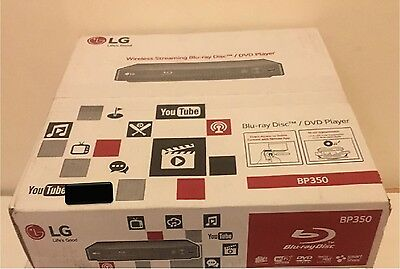 LG BP350 Black Smart Blu-Ray Player with Intergrated WiFi 1x HDMI & 1x USB Ports