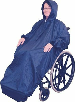 Aidapt Fleece Lined Wheelchair Mac With Sleeves head to toe protection