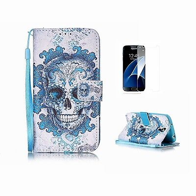 Samsung Galaxy S7 Edge Case [With Tempered Glass Screen Protector]Fatcatparad...