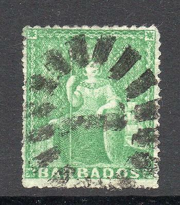 Barbados 1/2 Penny Stamp c1860-70 Used (1)