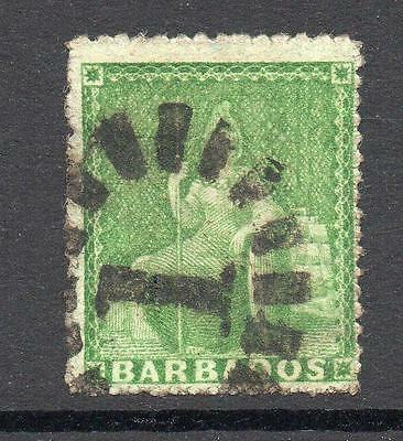 Barbados 1/2 Penny Stamp c1860-70 Used (2)