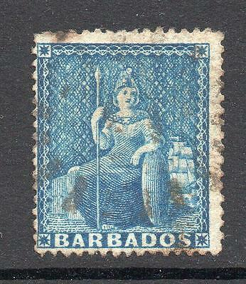 Barbados 1 Penny Stamp c1871 Used