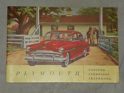 1940's Plymouth large 28-page advertising publication