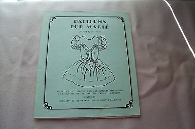 15.5 inch French Porcelain Doll Slip Drawers Dress Pattern Drafted by Pat Stall