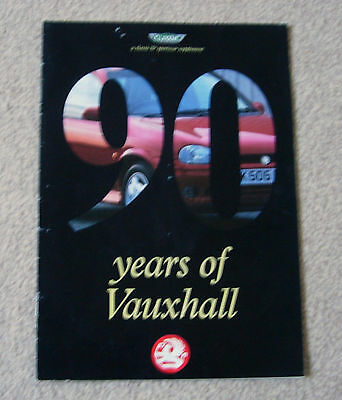 90 Years of Vauxhall,1903-1993- 24 pages- Pub. by Classic & Sportscar