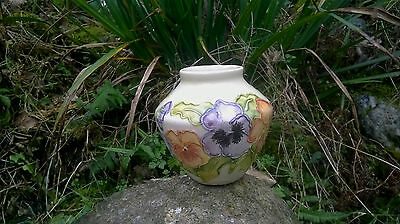 Chris Lucas Studio Beautiful & Vibrantly Hand-Painted Floral Spill / Posy Vase