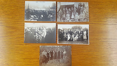 5 x Real Photo Postcards early 20th century English french Batten Ilfracombe