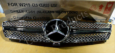 Mercedes Benz CLS Front Grille W219 Model 2004 to 2008 Full Chrome