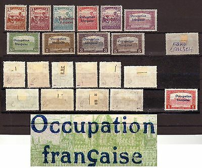 Hungary 10 diff GENUINE Arad French occupation overprint lot
