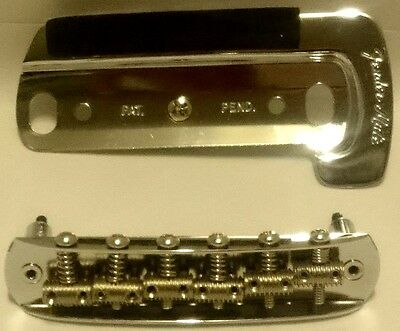 62-65 Fender Jaguar bridge & genuine Fender Jaguar MUTE PLATE Brand new
