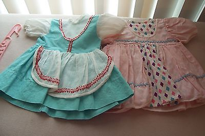 Vtg 50's Doll Dresses  with one Hanger