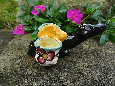 French Quimper Style Pottery Camel w/Baskets Open Salt Dip, Cellar, Dish!