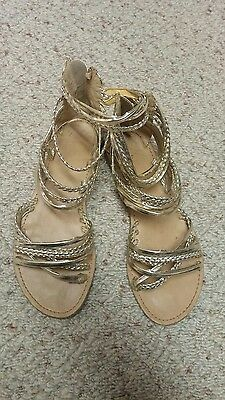 gold strappy sandals us size 6