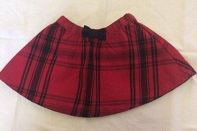 Crazy 8 From Gymboree Girl's Red/black Plaid Skirt Size 6-12 Months