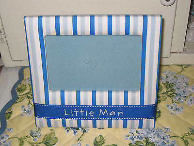 Little Man Fabric Photo Frame by Mudpie