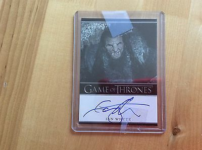 Game of thrones autograph card Ian Whyte
