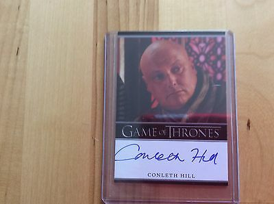 Game of thrones autograph card Conleth Hill
