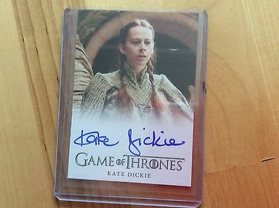 Game of thrones autograph card Kate Dickie