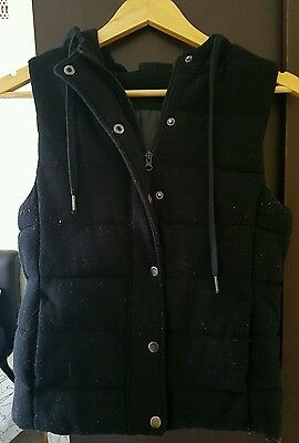 Black Puffer Vest Size Small
