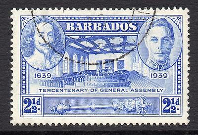 Barbados 2 1/2d Stamp c1939 Used