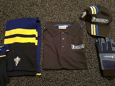 michellin - polo shirt Hat Gloves Scarf New