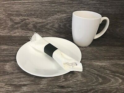 4.25 x 1.5 Black Napkin Bands (20,000) Self Adhesive