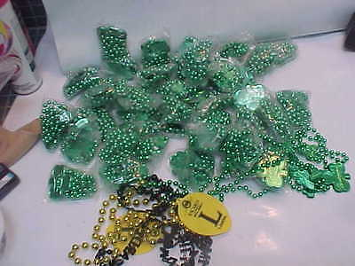 Budweiser Beer Beads 40 Green Shamrock Good Luck Necklaces Party Favor Gift New
