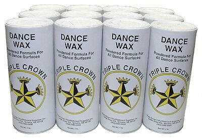 Triple Crown Dance Wax - Dance Powder - Case of 12 One Pound Cans - New