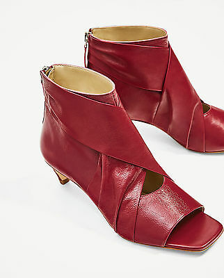 ZARA WOMAN SS/17 NEW Strawberry LEATHER ANKLE BOOTS REF.2119/201!ORIGINAL!