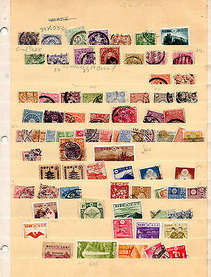 Japan, Three Pages with old Stamps.  LN2.13