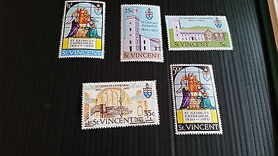 St.vincent 1970 Sg 309-313 150Th Anniv Of St. Georges Cathedral Mnh