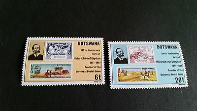 Botswana 1981 Sg 477-478 Birth Anniv Of Heinrich Von Stephan Mnh