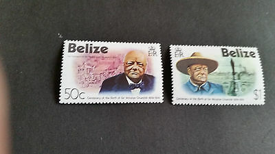 Belze 1974 Sg 396-397 Birth Cent Of Churchill Mnh