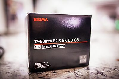 BRAND NEW Sigma 17-50mm f/2.8 EX DC OS HSM Zoom Lens for Canon DSLR Camera