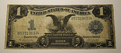 "1899 $1 One Dollar ""black Eagle"" United States Silver Certificate Note"