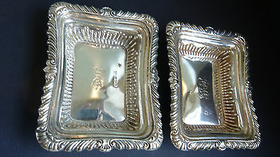 2  Antique Solid Silver Embossed Dishes 1898 William Neale & Sons (92g)