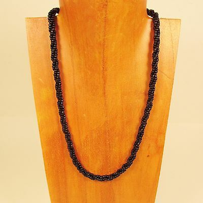 12PC WHOLESALE LOT 18 inch Black Handmade Beaded Rope Chain Necklaces