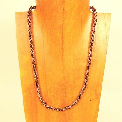 """12PC WHOLESALE LOT 18"""" Gold Bronze Color Handmade Beaded Rope Chain Necklaces"""
